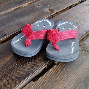 Hanna Andersson Boys toddler size 8 flip flops